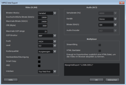 Audio-Codec in Video Pro X