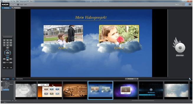 DVD Menü erstellen Vorschau Ansicht