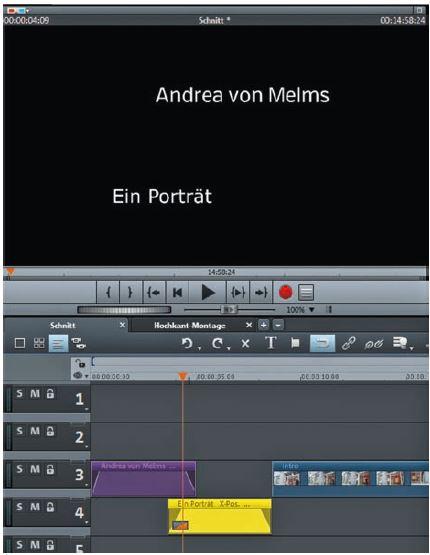 Titelarrangement des Video Intro