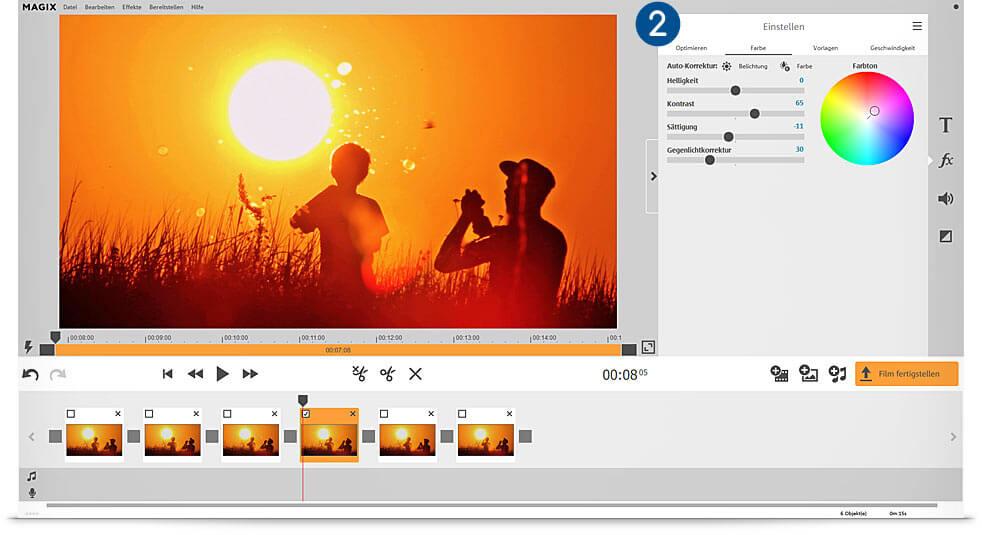 Benutzeroberfläche des Videoprogramms Video Easy HD